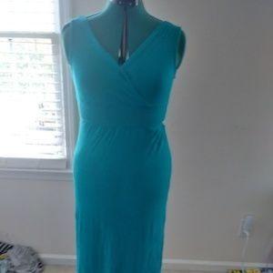 Turquoise Maxi Dress Sz Lg